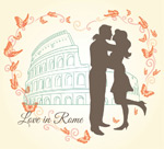 Link toIn rome, love illustration vector