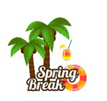 Link toIn spring coconut tree vector