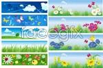 Link toIn summer it's banner width vector