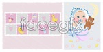 Link toInfant and baby products vector