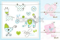 Link toInfant children vector illustration
