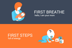 Link toInfant growth banner vector