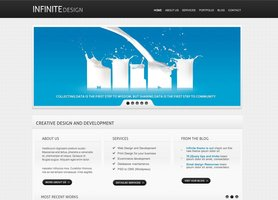 Link toInfinite light theme free psd