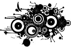 Link toInk-black and white vector current circle and design