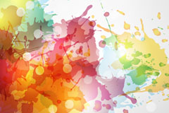 Link toInk color colorful vector background