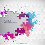 Link toInk jigsaw background vector