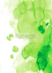 Link toInk watercolor series green plants psd