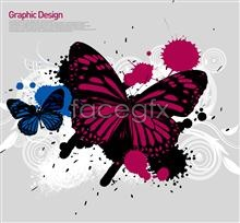 Link toInkjet butterfly korea design elements psd