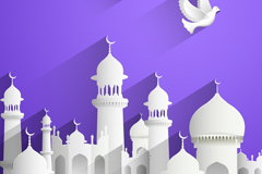 Link toInnovative islamic architecture and dove vector