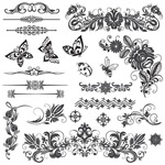Link toInsect-plant pattern vector