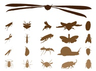 Link toInsect silhouettes graphics vector free