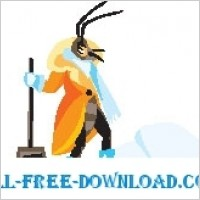 Link toInsect with snow shovel