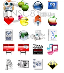 Integrated series icons