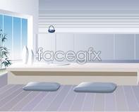 Link toInterior illustrator window lighting glass vector