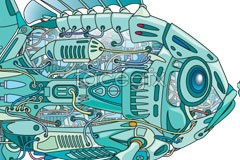 Link toInternal structure of robot fish vector