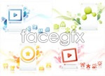 Link toInternet concepts background vector