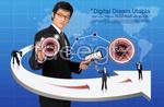 Link toInternet technology business psd