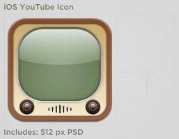 Link toIos youtube icon psd