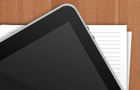 Link toIpad and paper stack icon psd