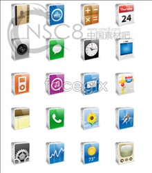 Link toIphone cell phone desktop icons