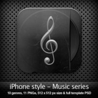 Link toIphone style - music series