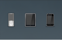 Link toIpod, ipad, iphone, and imac icons psd