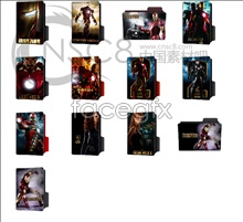 Iron man 2 movie icons