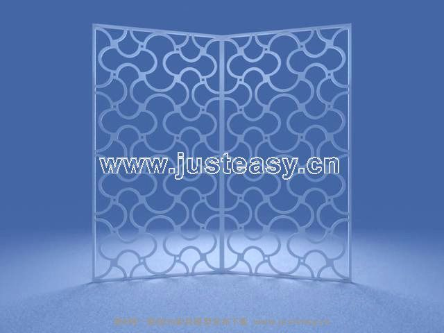 Link toIron screen 3d model of stylish furnishings