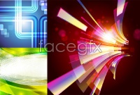 Link toIrradiation colours background vector