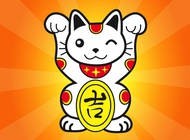 Japanese lucky cat vector free