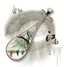 Link toJiangnan pipa design psd advertising