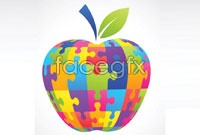 Link toJigsaw puzzle apple logo vector
