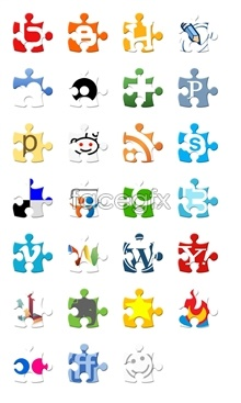Link toJigsaw-style social media icons