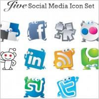 Link toJive social media vector icon set