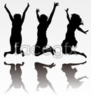 Link toJumping people silhouette vector