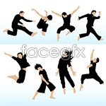 Link toJumping people vector