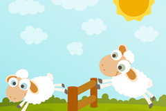 Link toJumping sheep cartoon vector
