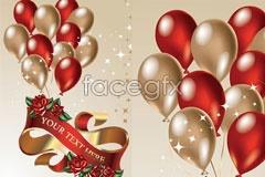 Link tovector ribbons balloon Khaki