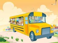 Link toKids in school bus vector free