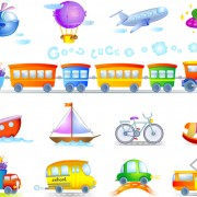 Link toKids toy cars and planes vector free