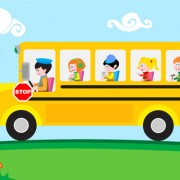 Link toKids with bus design vector free