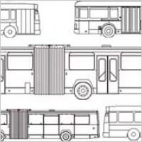 Link toKinds of line drawing car bus vector