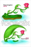 Link toKingdom of fairy tale roses vector