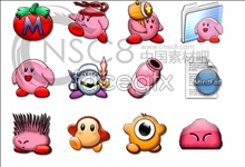 Kirby cartoon icons