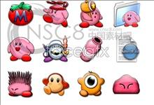 Kirby cartoon icons