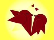 Link toKissing birds vector free