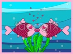 Link toKissing fish cartoon vector