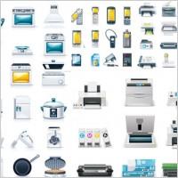 Link toKitchen appliances u0026amp office icon vector