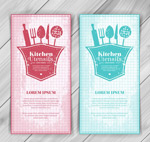 Kitchen banner vector