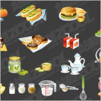 Link toKitchen utensils, such as fine food icon vector material